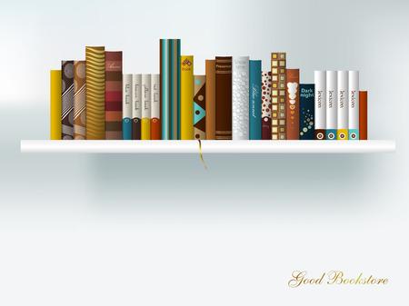 book shelves: Book shelf interior  Vector illustration   Illustration