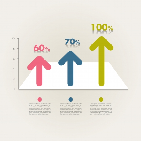 accounting design: Sample chart, graph  Infographics data visualisation   Illustration