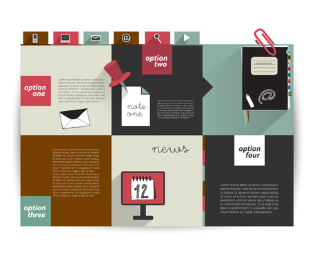 graphics design: Modern infographic box diagram can be used for annual report  Web or print banner, template  Simply minimalistic option graphics design  Vector illustration   Illustration