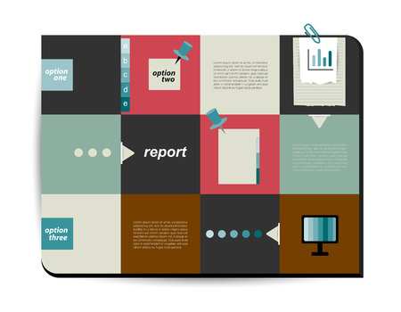 Modern infographic box diagram can be used for annual report  Web or print banner, template  Simply minimalistic option graphics design  Vector illustration   Vector