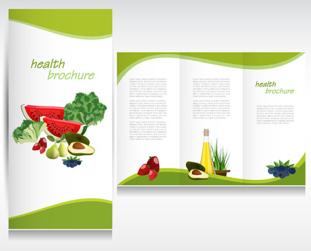 Health brochure layout Stock Vector - 25362872