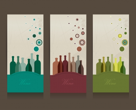 wine card: Collection of modern shadows chair flat icon  Vector illustration  Illustration