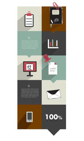 Modern website template  Colorful minimalistic option banner  Vector illustration  Box diagram  Blog, noticeboard background   Vector