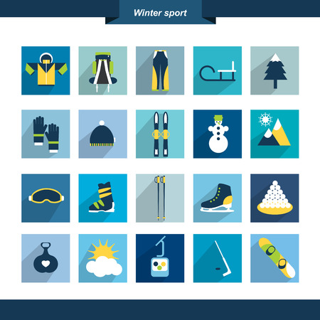 Winter sport icon shape  Vector illustration Stock Vector - 25362995