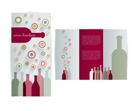 Wine card for restaurant  Brochure design flyer   Vector