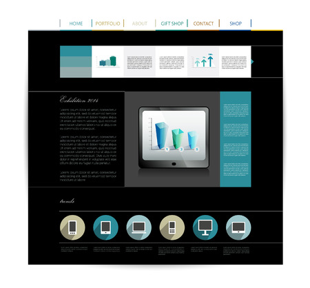 Web design layout template   Vector