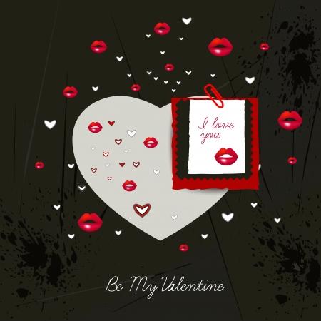 unusual valentine: Modern Valentine card