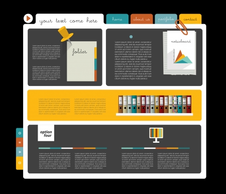 page layout: Web blog design  simply web page layout   Illustration