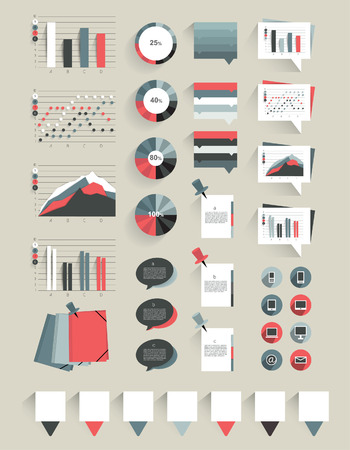 annual report: Collection of infographics elements