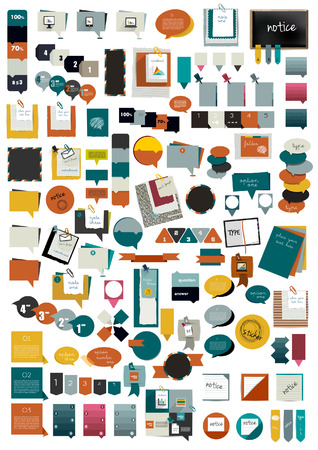 discuss: Collection of colorful various speech bubbles   Illustration