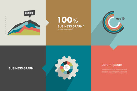 caption: Square flat infographic template  Modern minimalistic diagram design  Illustration