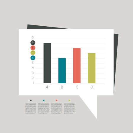 dimensions: Flat graph for infographics