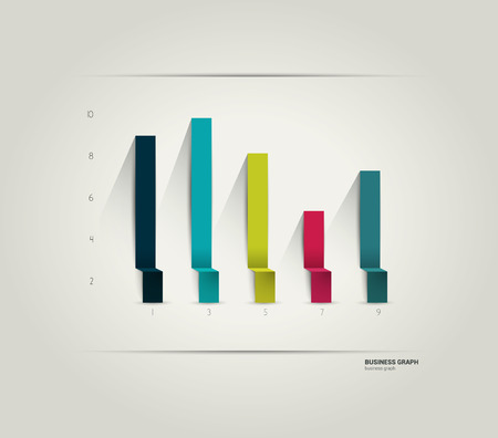 bar graph: Example of business flat design graph  Infographics chart   Illustration
