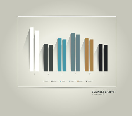 bar chart: Exclusive business flat graph Trend chart can be used for info graphics presentation, catalog design, annual report, brochure layout, web page, cover concept  Minimalistic progressive diagram,scheme   Illustration