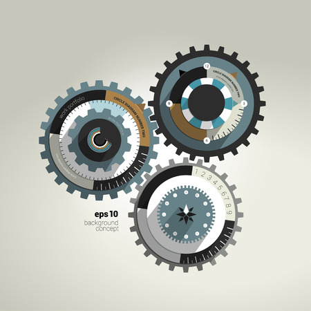 brand new: Exclusive circle flat infographic diagram  Business cog wheel template concept for brochure