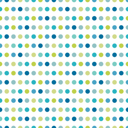 Colorful flat repeat wall paper polka dot design  Warm boy color  Vector