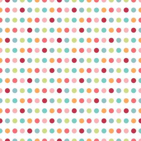 baby birthday: Colorful flat repeat wall paper polka dot design  Warm girl color