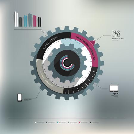 bluer: Info graphic circle diagram