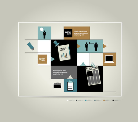 stage chart: Infographic scheme diagram  Flat table design