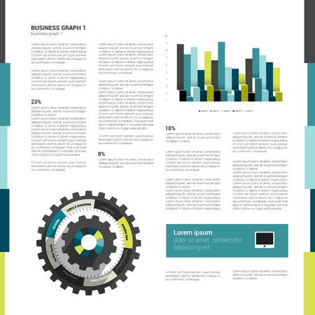 Brochure, flyer design template  Modern minimalistic layout   Illustration