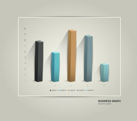 progressive: Example of business 3 D design graph  Infographics chart