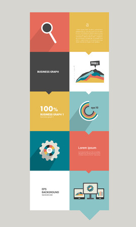 Modern flat box diagram for infographics  Vector module chart  Simply editable template   Vector