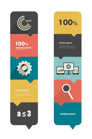 Modern flat box diagram for infographics  Vector module chart   Vector