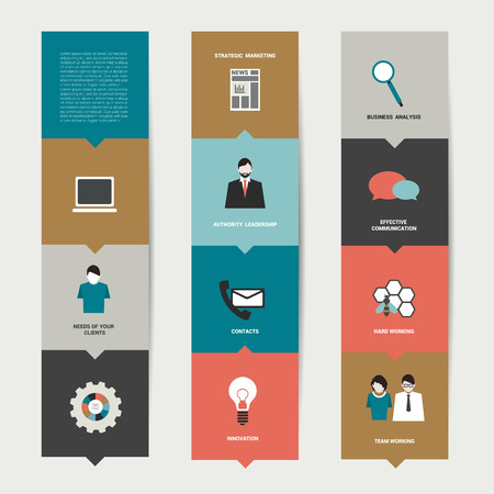 simply: Simply editable flat box diagram for infographic   Illustration