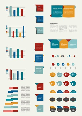 Set of flat infographic elements   Vector