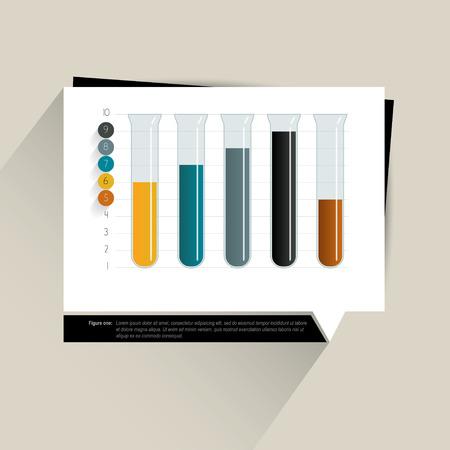 visualisation: Sample chart, graph  Infographics data visualisation  Flask design concept