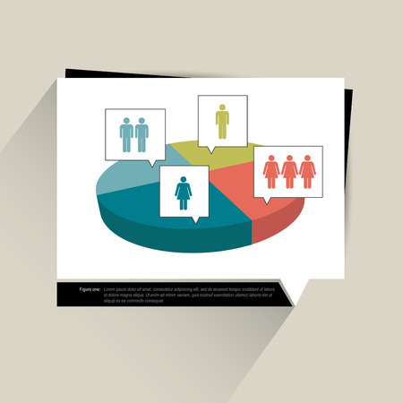 visualisation: Sample chart, graph  Infographics data visualisation  3D round diagram