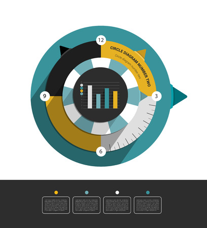 page layout: Circle infographic diagram  Modern flat round scheme for print or web page  Trend brand color layout