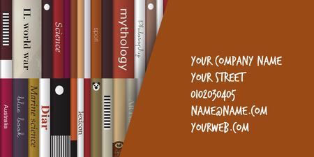marca libros: Concepto de la tarjeta de visita del libro