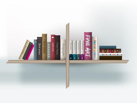 buchhandlung: B�cherregal Vektor-Illustration Buchhandlung Innen