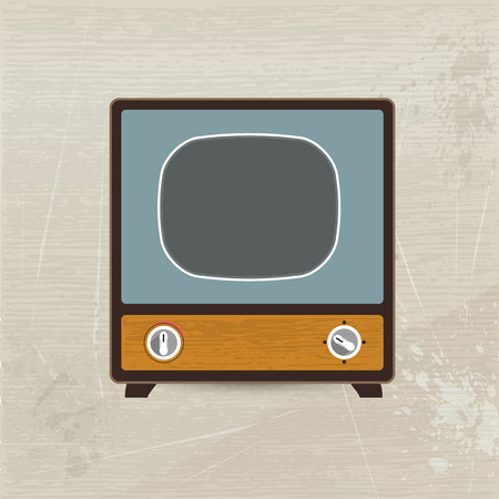 Retro television  Vector illustration   Vector