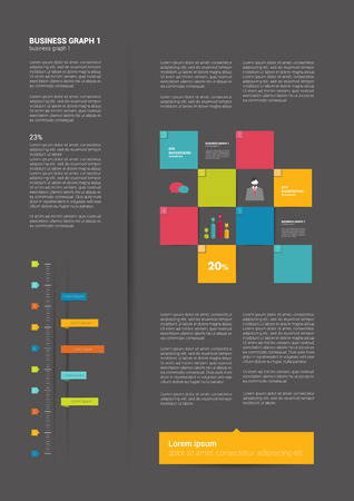 Brochure, flyer, newsletter, annual report layout template  Business flat background concept   Vector