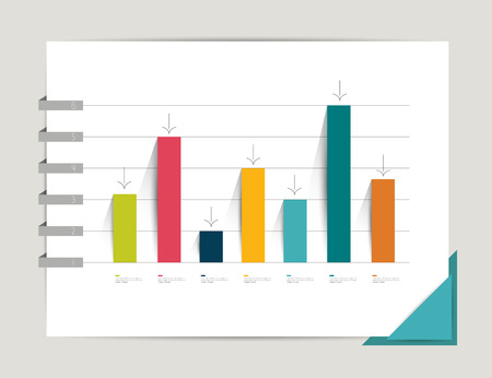 Graph, chart  Infographic elements  Flat design  Simply minimalistic concept  Template
