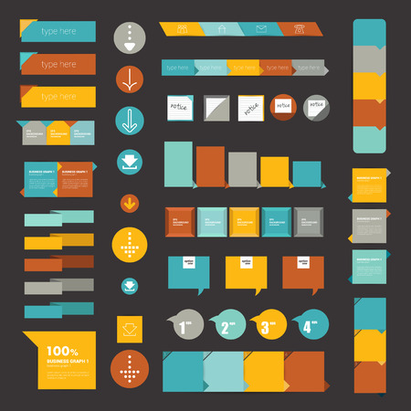 caption:  Collections of infographics flat design diagrams  Illustration