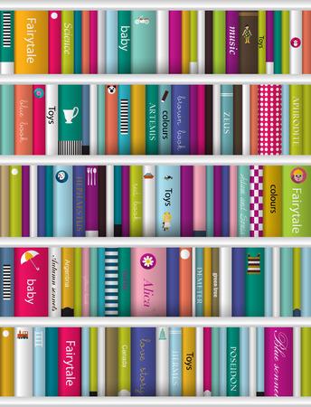 three shelves: Children book shelf