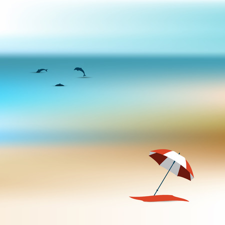 quiet: Quiet sunny day on the beach  Background vector illustration