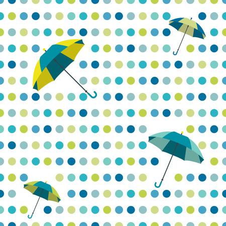 Colorful flat repeat wall paper polka dot design  Dancing  Vector