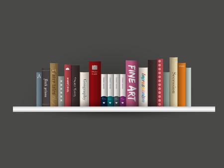 Book shelf  Vector illustration  Bookstore indoor