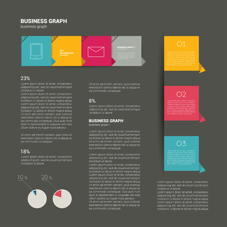 Booklet design  Magazine layout  Infographics template   Vector