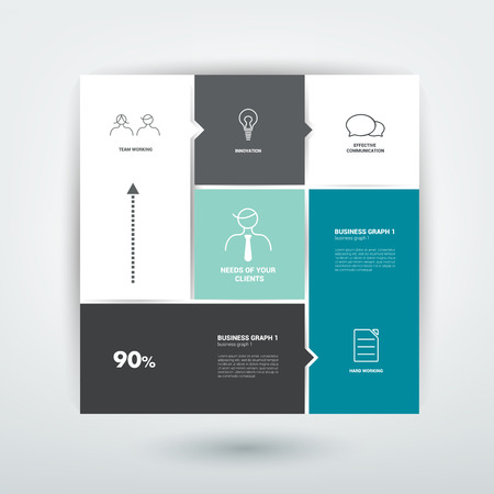network diagram: Minimalistic flat tab, diagram, scheme for infographics  Simply editable futuristic design with icons