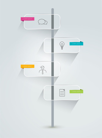Timeline infographic  Minimalistic flat template  Vector