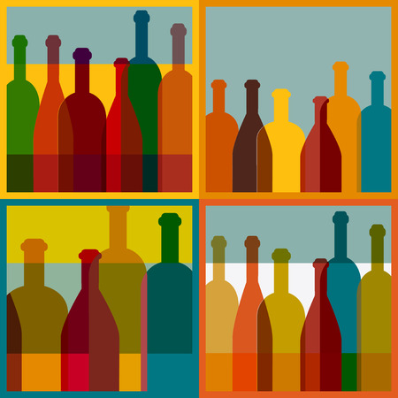 vineyard: Wine bottle illustration  Vector