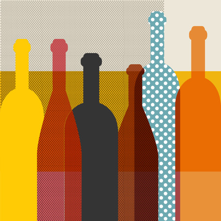 Wine bottle illustration  Vector