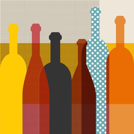 Wine bottle illustration  Vector
