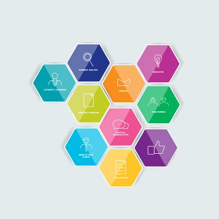 prospectus: Hexagonal icon set