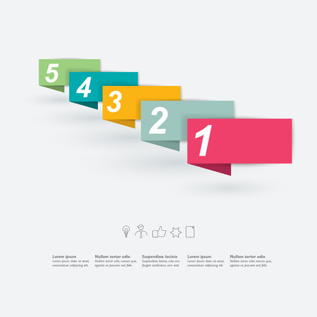 2 3: Step by step template  Vector